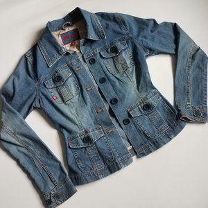 Plugg   Denim Jean Jacket Size S